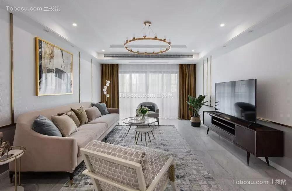2019美式客厅装修设计 2019美式吊顶设计图片