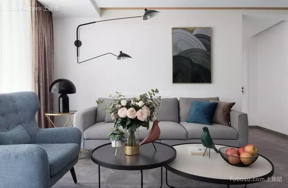 140㎡现代北欧3室2厅,温柔而惬意的舒适生活