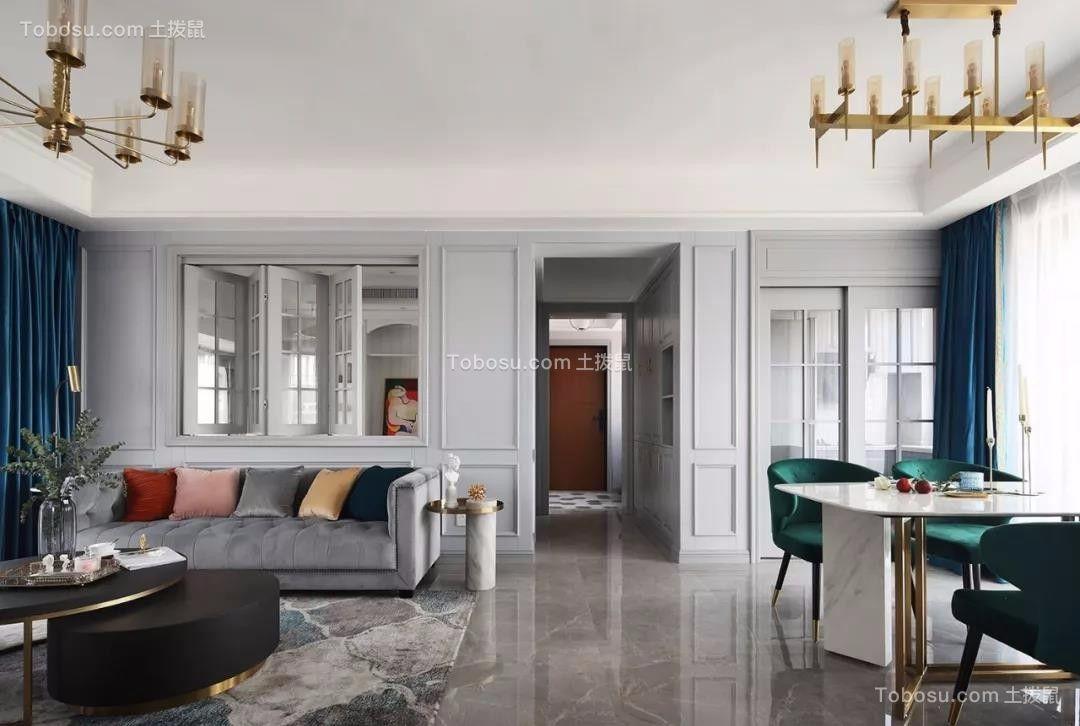 120平三居室美式风格效果