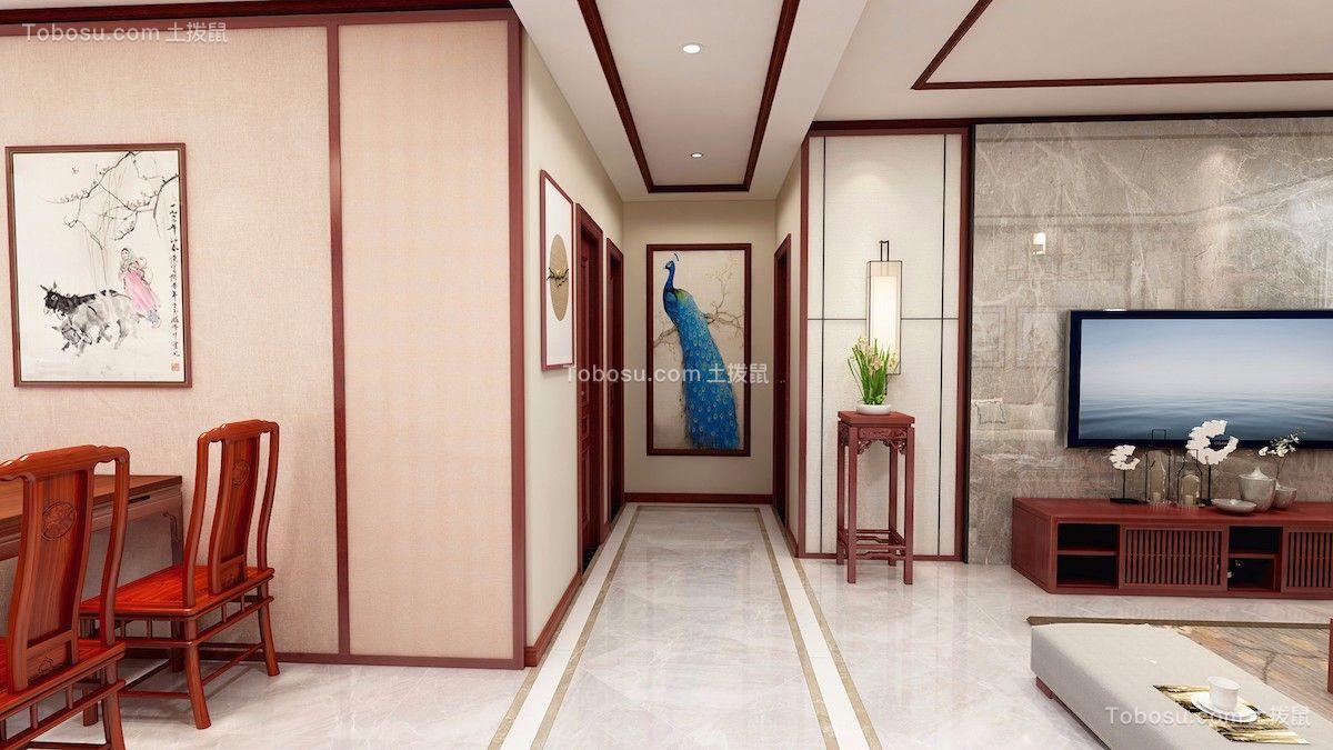 2019新中式玄关图片 2019新中式走廊装修效果图片