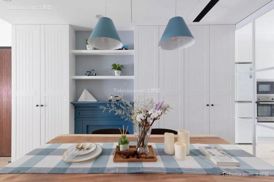123平北欧风格三居室装修效果图