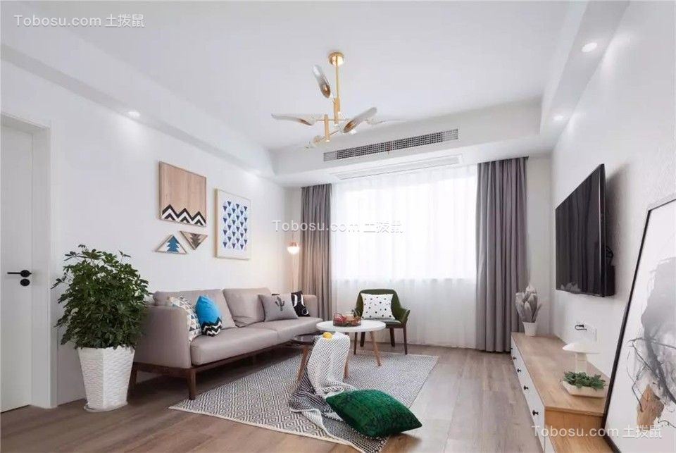 115㎡温馨北欧风格装修,清新惬意的暖心之家!