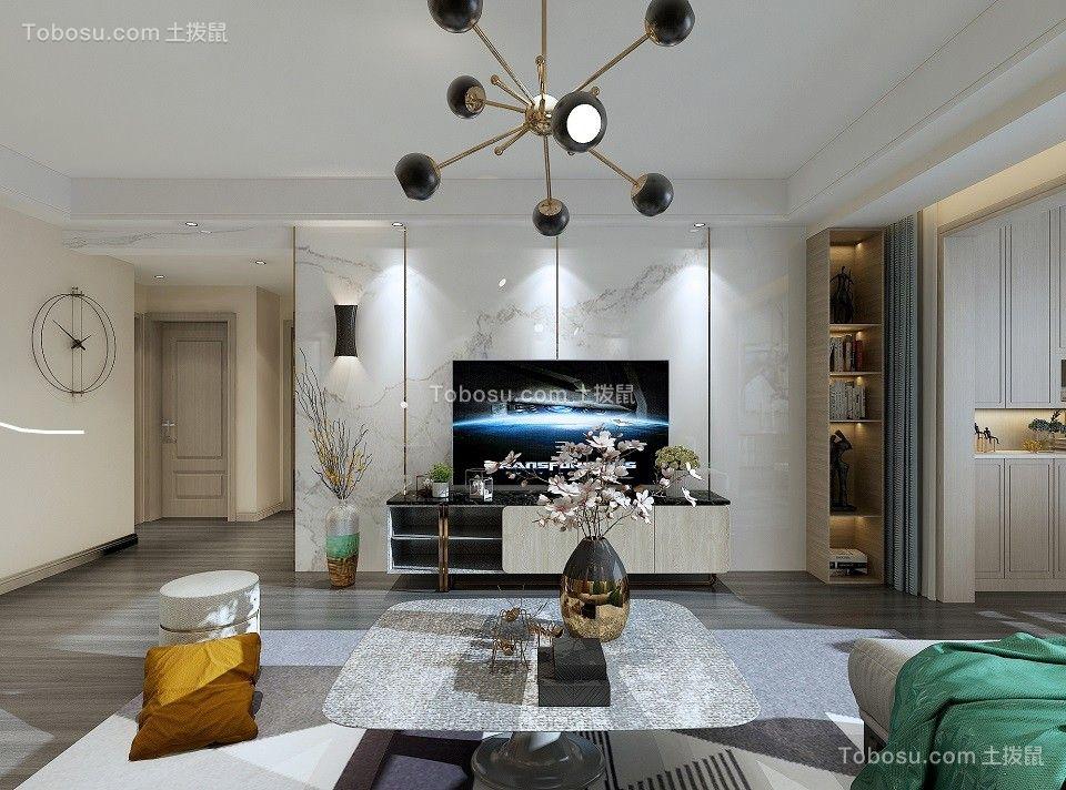 2020北欧客厅装修设计 2020北欧背景墙图片