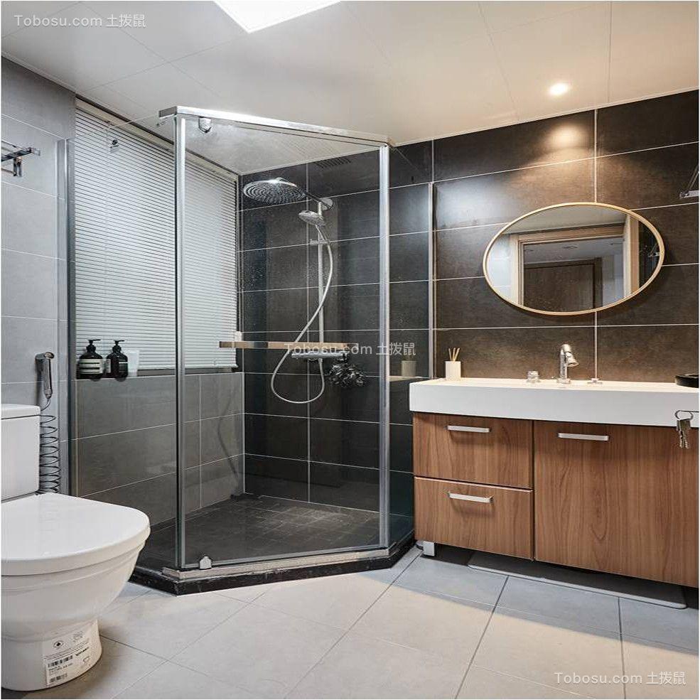 2020北欧卫生间装修图片 2020北欧浴室柜装修图片