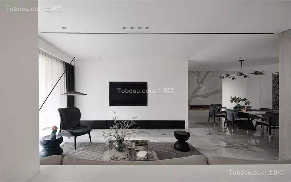 现代简约160平米家装效果图