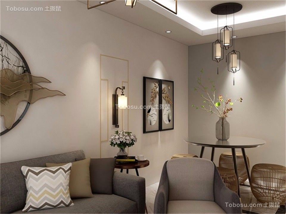 2020新中式餐厅效果图 2020新中式背景墙装修图