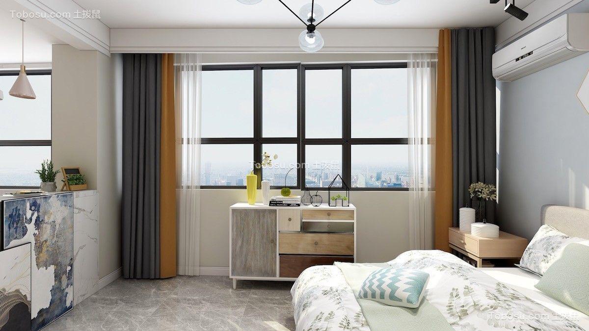 世纪大厦63平现代简约风格效果图案例