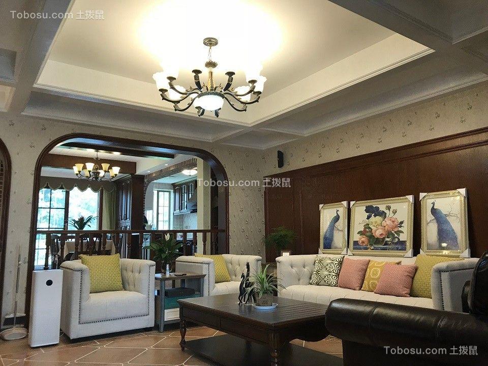 山水黔城美式古典实景图