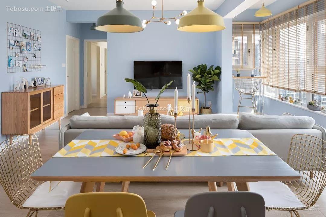 100㎡温馨北欧3室2厅,清新而实用的惬意生活