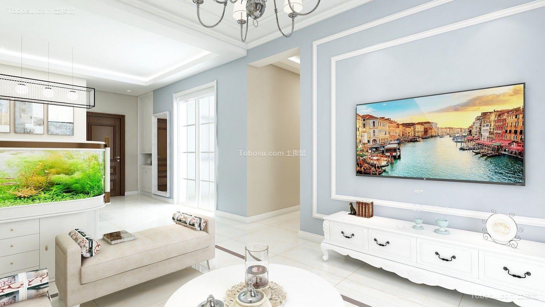 中建锦绣城99平简约风格效果图案例