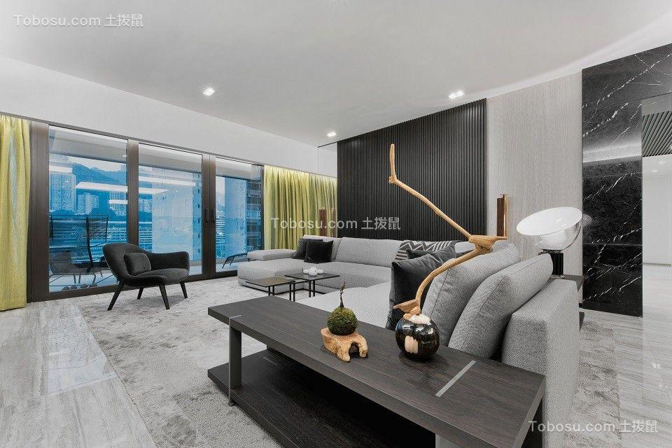 2020现代简约客厅装修设计 2020现代简约推拉门装修设计图片