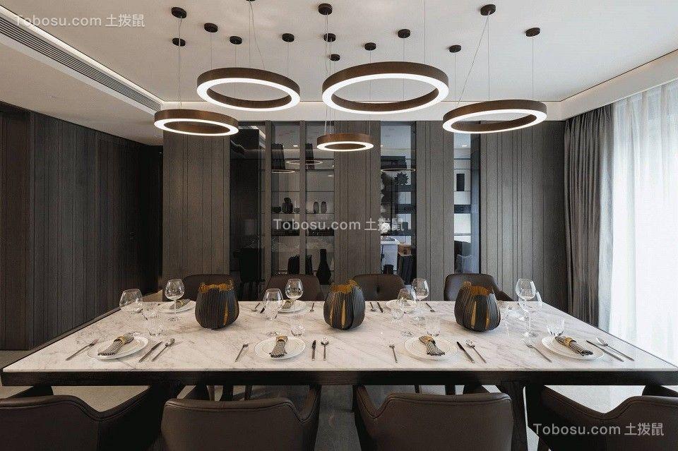 2020现代简约餐厅效果图 2020现代简约吊顶装修图片