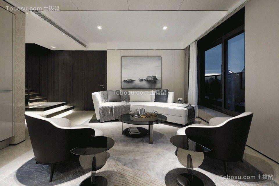 2020现代简约客厅装修设计 2020现代简约窗台设计图片