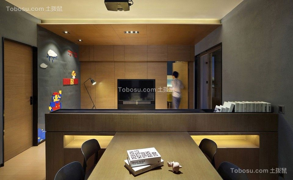 2021现代简约餐厅效果图 2021现代简约吧台装修效果图大全
