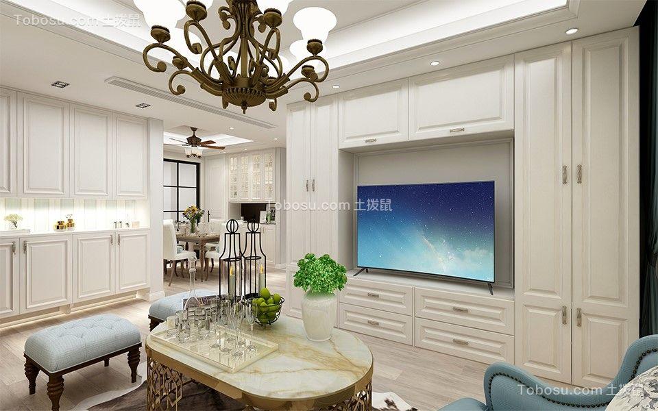 2021美式客厅装修设计 2021美式电视背景墙装修设计图片