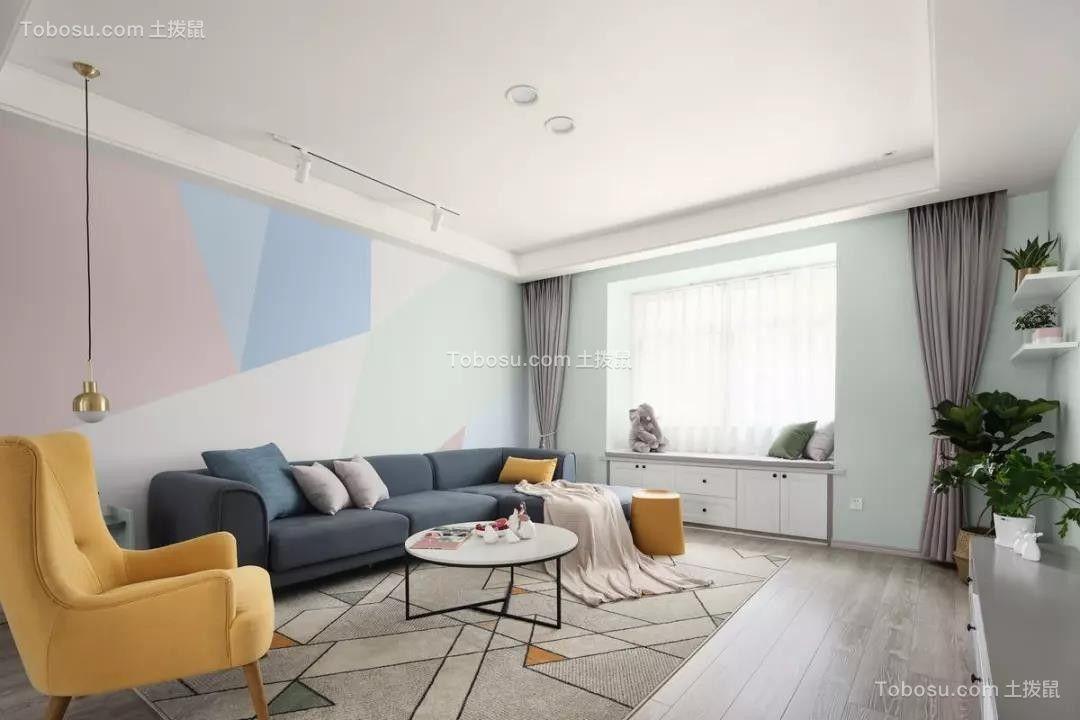 135平米清新北欧3室2厅,卡座餐厅浪漫又实用!