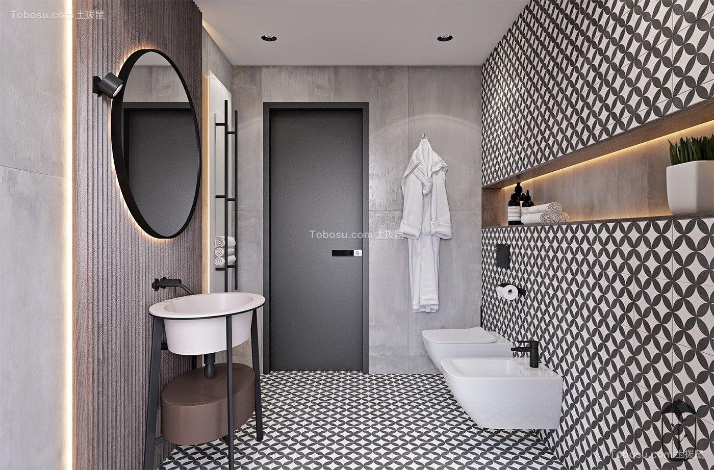 2019工业卫生间装修图片 2019工业浴室柜装修图片