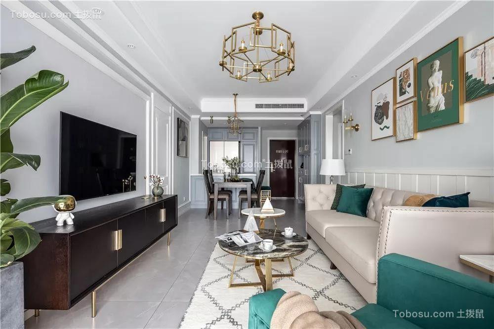 120平米轻奢美式3室2厅,彰显典雅不失浪漫的品位生活