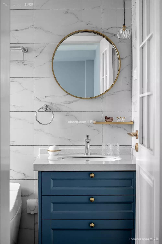 2019美式卫生间装修图片 2019美式洗漱台装饰设计