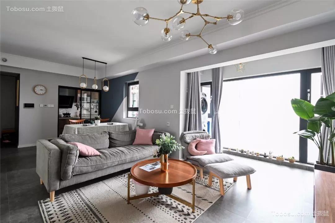 96㎡温馨北欧3室2厅,舒适居家的小资生活