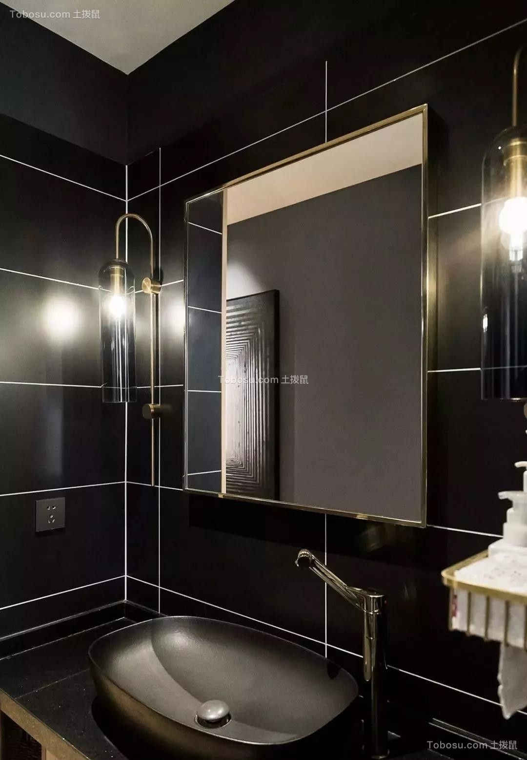 91平米混搭美式风格装修,时髦复古、个性质感!| 美式风格