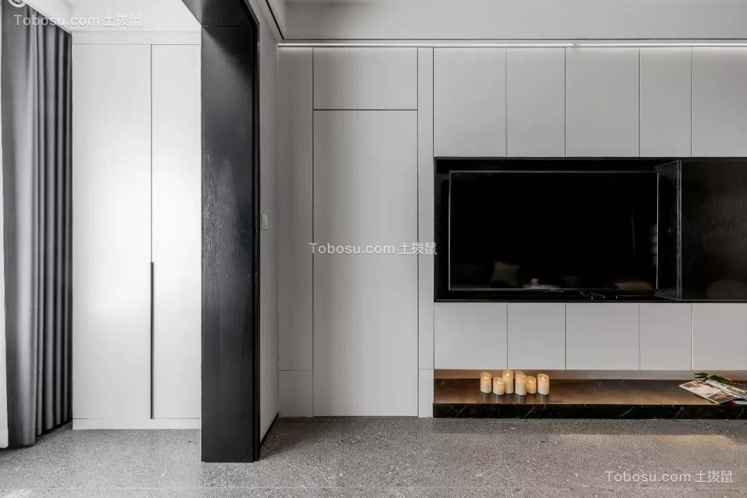2019现代简约客厅装修设计 2019现代简约隐形门装修效果图片