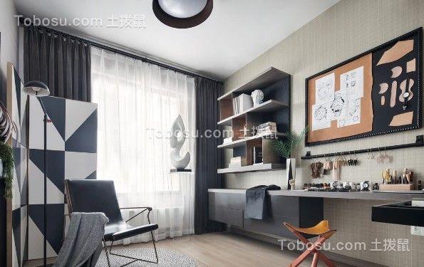 2021现代简约书房装修设计 2021现代简约背景墙装修设计