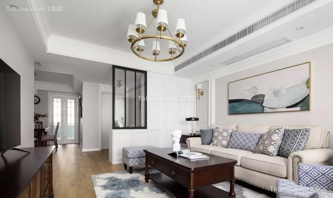 2021美式客厅装修设计 2021美式隔断图片