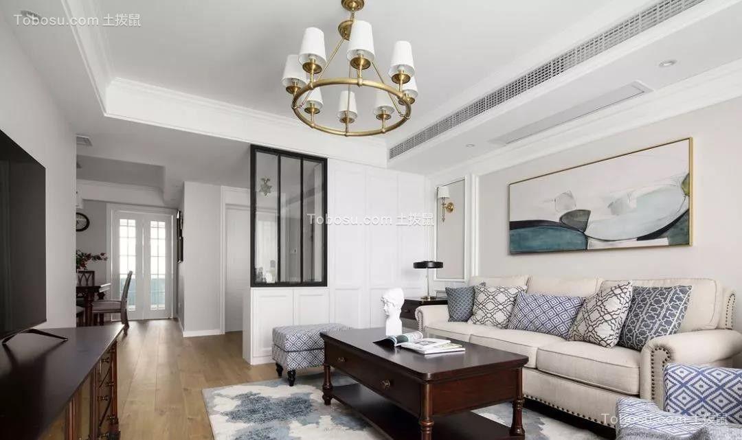 2019美式客厅装修设计 2019美式隔断图片