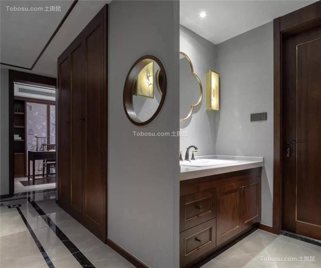 2021新中式卫生间装修图片 2021新中式洗漱台装饰设计