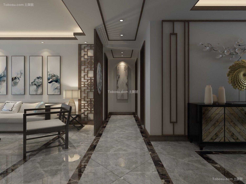 2021新中式玄关图片 2021新中式走廊效果图
