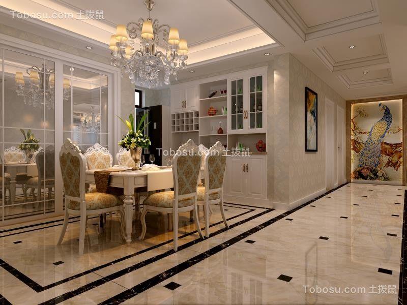 2020欧式餐厅效果图 2020欧式博古架装饰设计