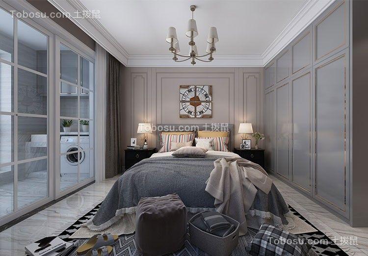 2019现代简约卧室装修设计图片 2019现代简约衣柜装修效果图片