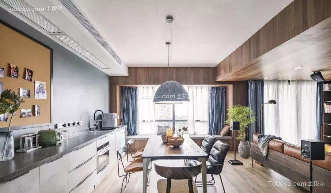 150平米自然简约风装修,打掉一面墙,换来45平米宽敞通透客餐厅!