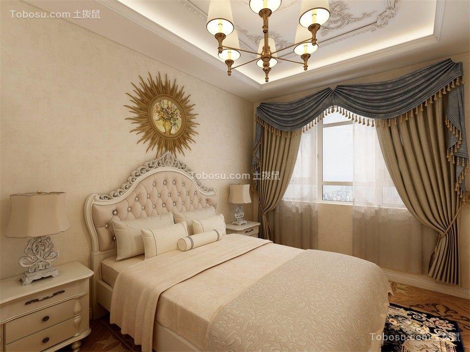 2021简欧卧室装修设计图片 2021简欧窗帘装修设计图片