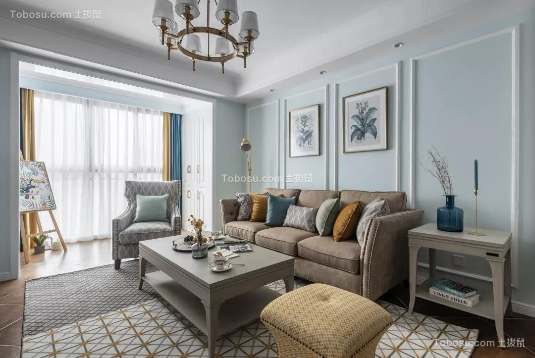 100㎡清新美式3室2厅,演绎精致优雅的小情调