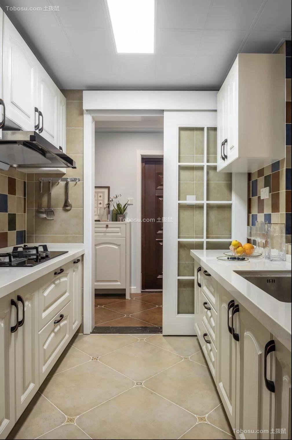 2020美式厨房装修图 2020美式厨房岛台装饰设计