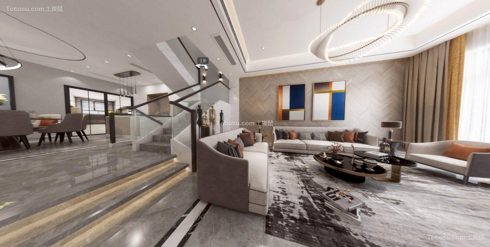 2020现代欧式客厅装修设计 2020现代欧式楼梯装修设计