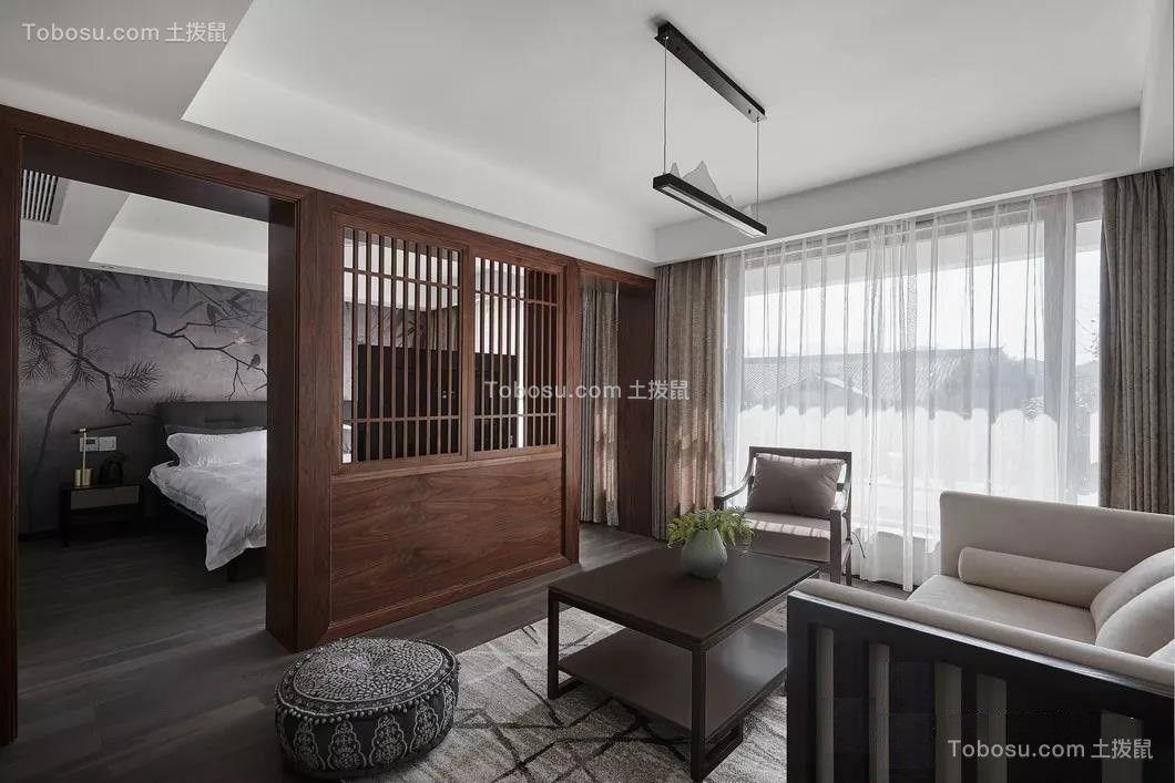 2019新中式起居室装修设计 2019新中式沙发设计图片