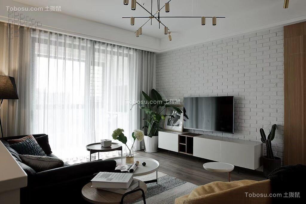 2019简欧客厅装修设计 2019简欧电视背景墙装修设计图片