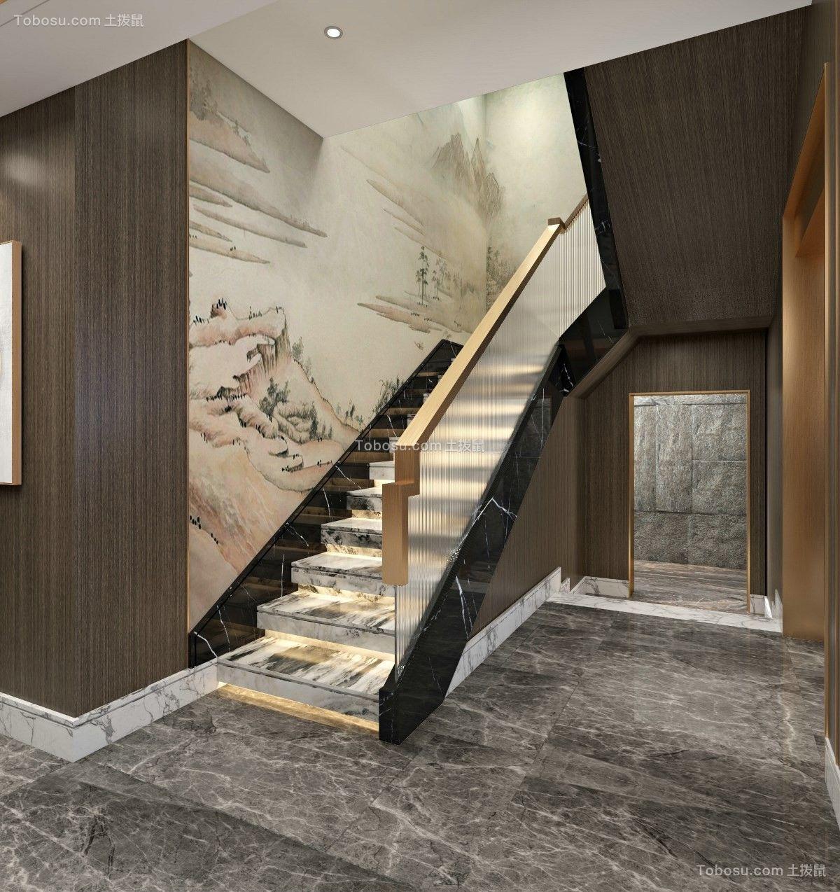 2021中式玄关图片 2021中式楼梯装修图