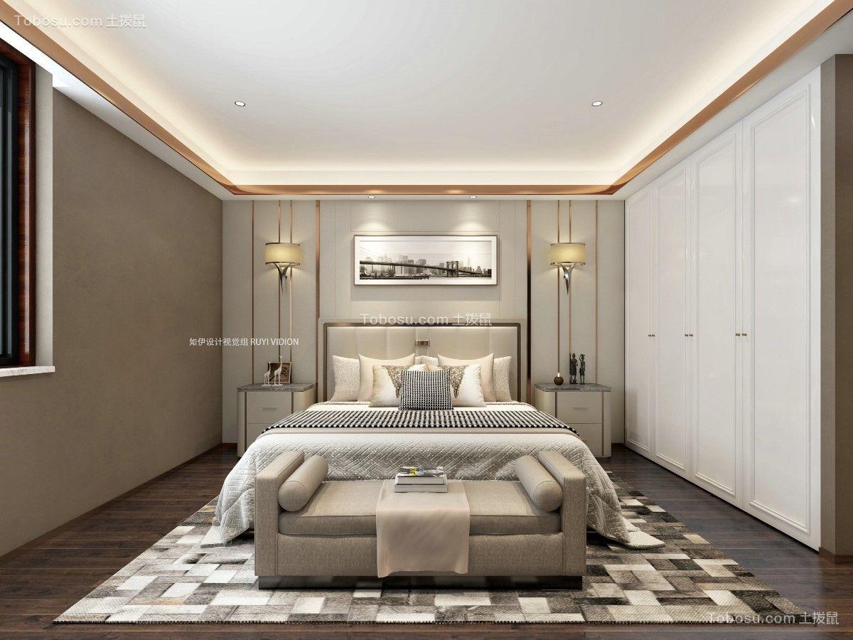 2019中式卧室装修设计图片 2019中式床图片