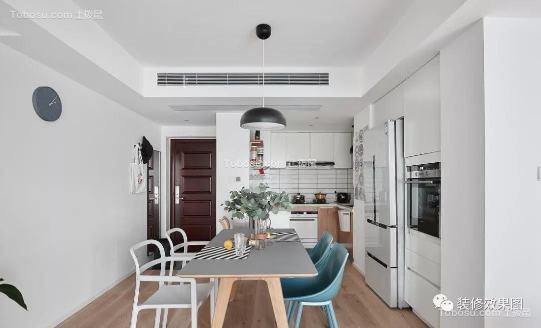 98平米舒适北欧3室2厅,清新而明朗的惬意生活