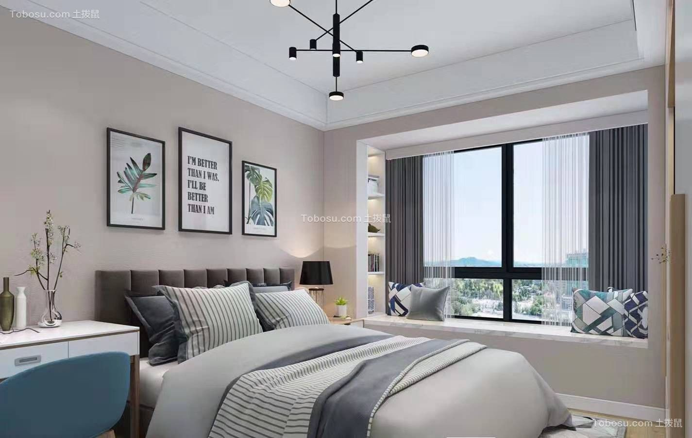 2019北欧卧室装修设计图片 2019北欧床装修效果图片