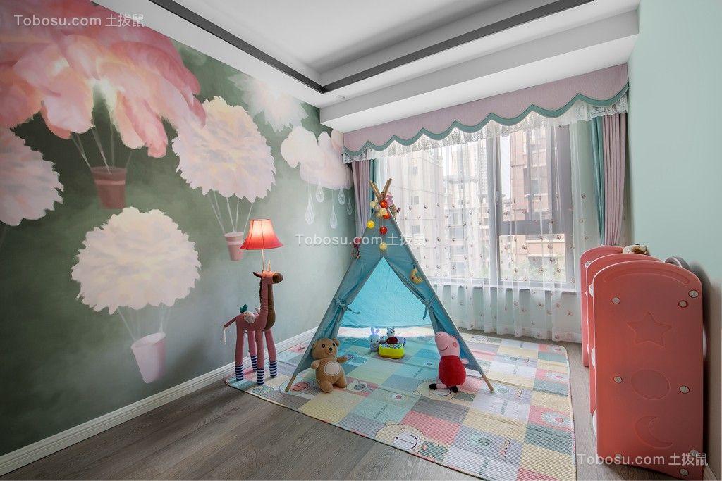 2019现代简约儿童房装饰设计 2019现代简约背景墙装修图