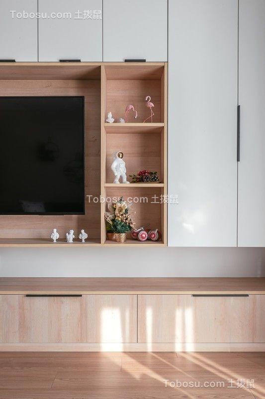 2020混搭客厅装修设计 2020混搭电视柜装修效果图片