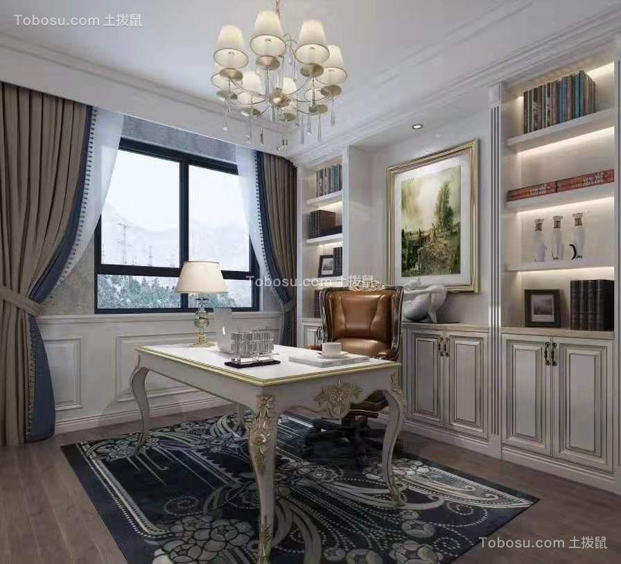 2021欧式书房装修设计 2021欧式书桌图片