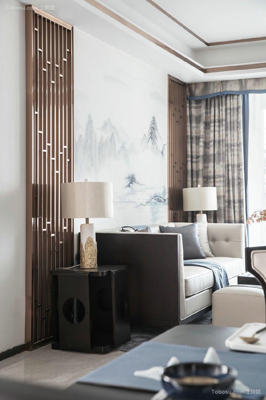 新中式+烟灰蓝,打造最美中式设计!