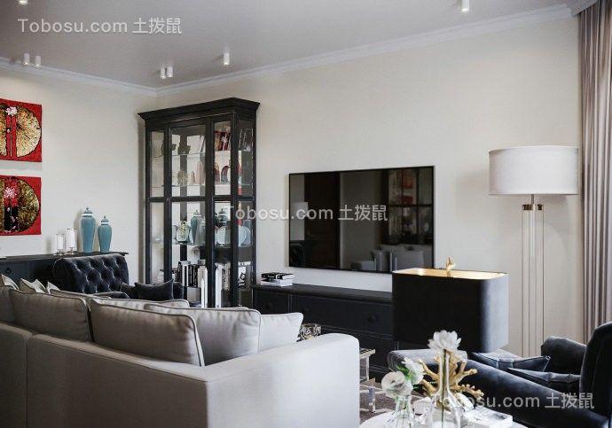 2020美式客厅装修设计 2020美式电视柜装修效果图片