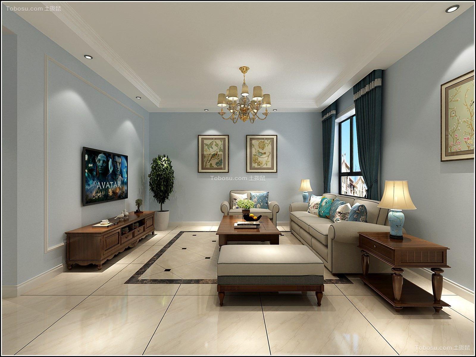 太原市榆次首创国际135平简欧装饰风格